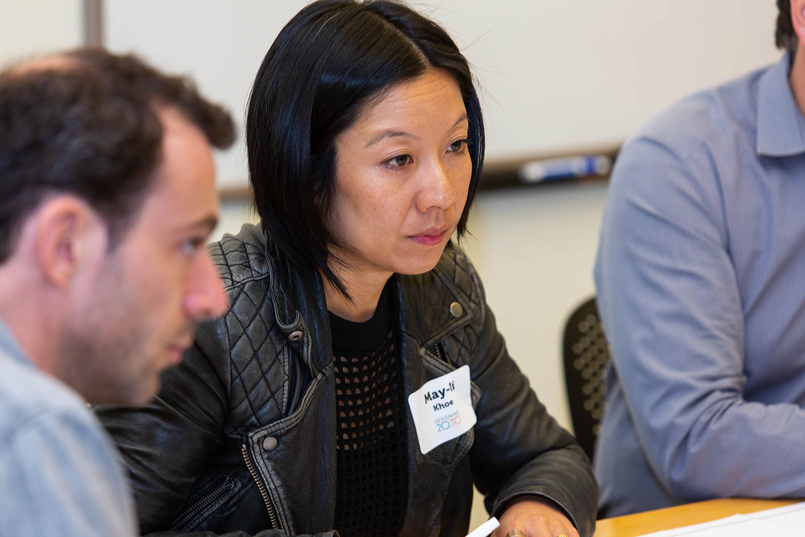 Networking. 2030 attendees, like designer May-Li Khoe, shared ideas and ways of working and learning within – and across – educational settings.